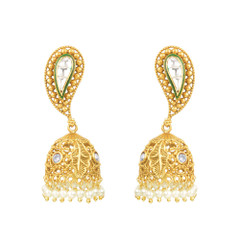 Magnificent Gold, Pearl and Stone Earrings2048