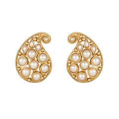 Magnificent Gold and Pearl Earrings2051