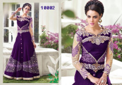 Purple Color Beautifully Designed Bollywood Lehenga
