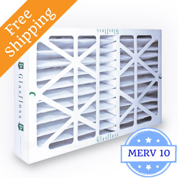 20x25x4 Air Filter ZL Series MERV 10 by Glasfloss
