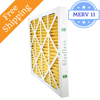 20x20x2 Air Filter MERV 11 Glasfloss Z-Line