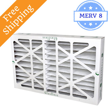 12x24x6 Z-Line HV Pleated Air Filters MERV 10 - Glasfloss