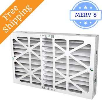 16x25x6 Z-Line HV Pleated Air Filters MERV 10 - Glasfloss