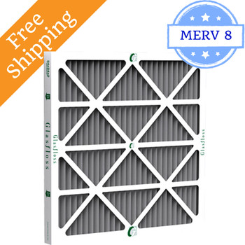 20x25x1 Z-Line Carbotron Pleated Furnace Filters MERV 8 - Glasfloss