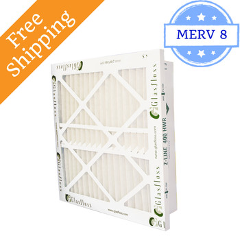 14x25x4 Z-Line HWR Pleated Return Grille Filters MERV 8 - Glasfloss
