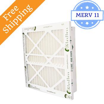 14x20x4 Z-Line HWR Pleated Return Grille Filters MERV 11 - Glasfloss
