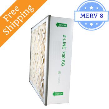 20x25x6 SGP20256AC 700 SG MERV 8 #201 Carbon Replacement - Glasfloss