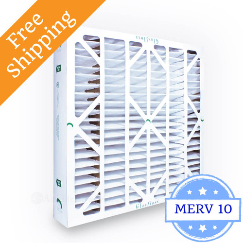 20x20x4 Air Filter Glasfloss Zl Series Merv 10 Box Of 6