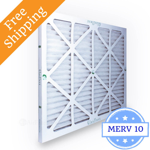 18x21x1 exact air filter glasfloss zl series merv 10 - box of 12