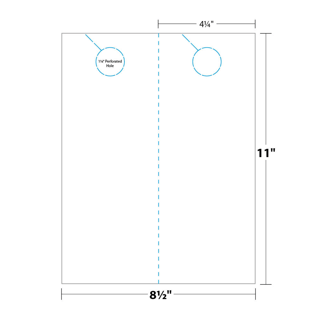 4 25 x 11 door hanger template - micro perforated door hanger ldh5b6 blanks usa