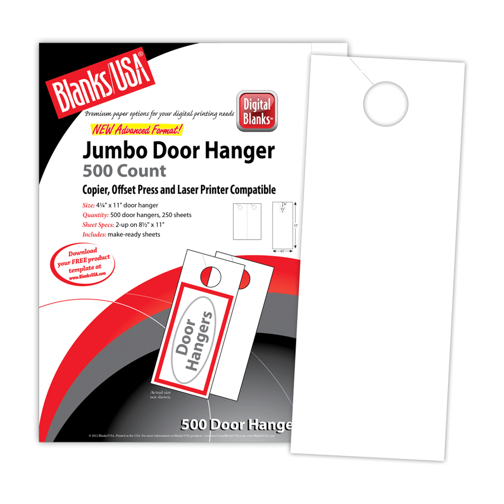Micro-Perforated Door Hanger - LDH5B6 - Blanks USA