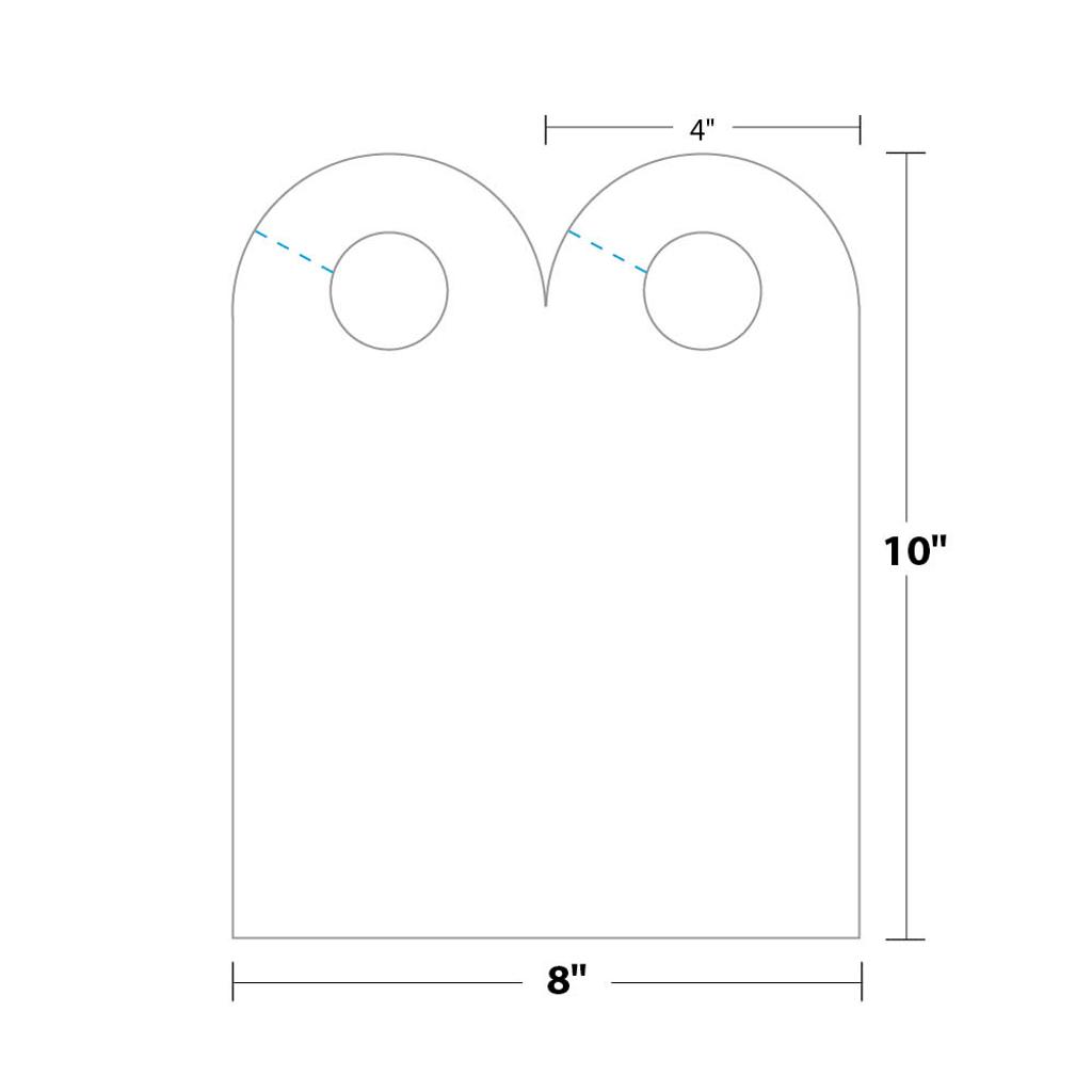 arched door hanger dhar5s8 blanks usa