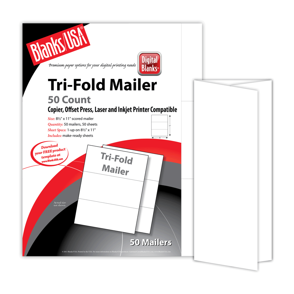 tri fold brochure with two scores lmtf05flwh blanks usa