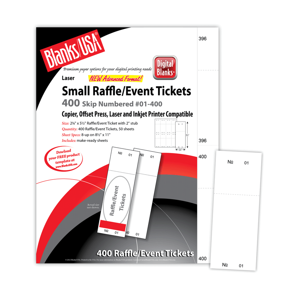 micro perforated small raffle event ticket lts8 blanks usa