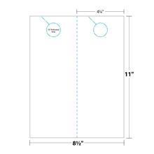Door Hanger measurements and dimensions. 2-up