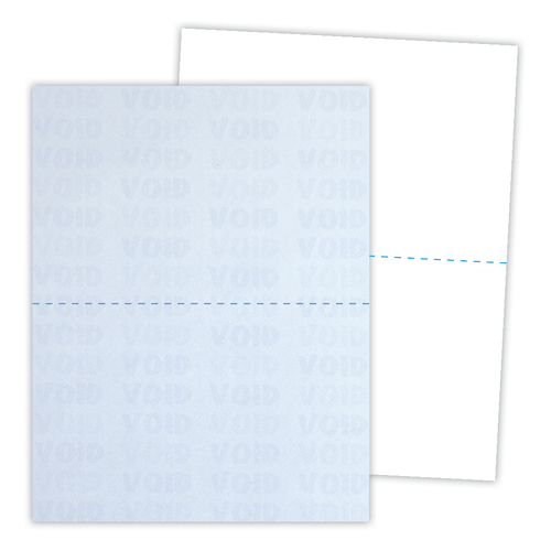 Kan't Kopy® Security Paper Perforated in Half