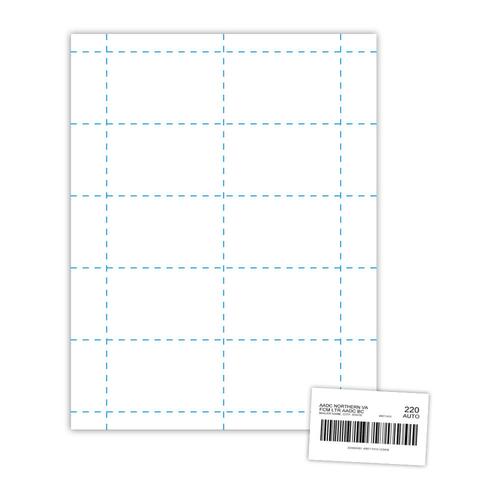 USPS Tray Tag sample and sheet.