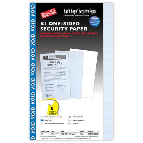 Kan't Kopy K1 Security Paper