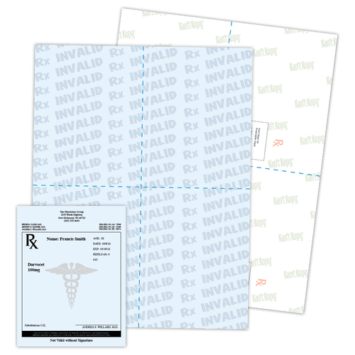 Kan't Kopy® K1 Perforated Prescription Paper with 9 Features