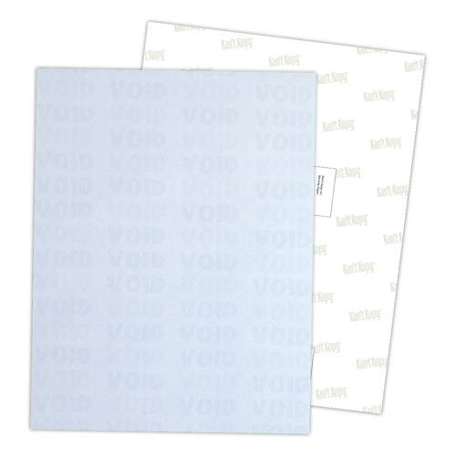 Kan't Kopy® K2 Security Paper with 10-12 Features, Bulk Pack