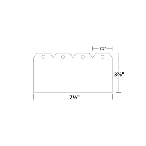 "1.875"" x 3.75"" Tag with Hole Removed on 3.75"" x 7.5"", 90 Lb. Index, 1000/Pack"