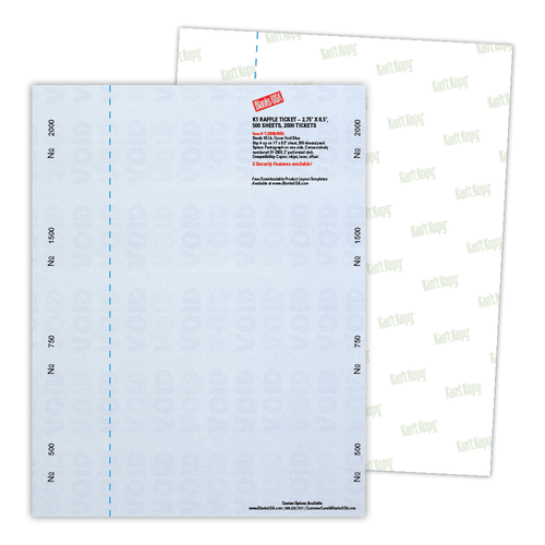 Kan't Kopy Security & Prescription Paper Sample Pack