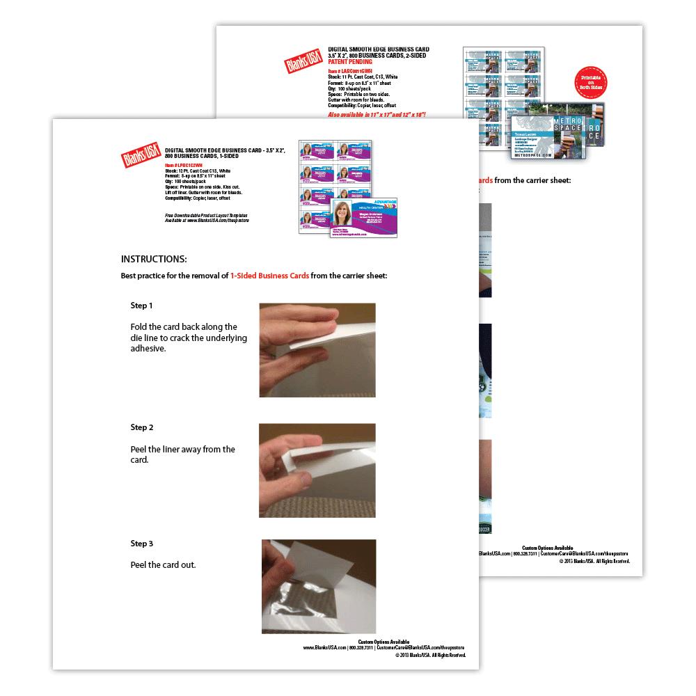 Digital business cards sample pack sampbc blanks usa colourmoves