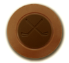 Milk chocolate hockey puck by Chocolate for the World.