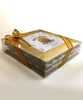 Layers in gift wrap of Walnut Deluxe by Ü Chocolate for the World
