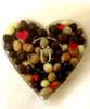 Top view of Valentine's Day Espresso Bean Gift Box featuring Six Varieties of Chocolate-covered Espresso Beans by Ü Chocolate for the World