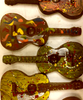 More variations on the Hand-painted acoustic guitar by Ü Chocolate for the World