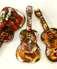 Further variations on the hand-painted acoustic guitar by Ü Chocolate for the World