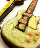 Detail view 3 of of the hand-painted electric guitar by Ü Chocolate for the World