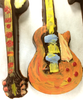 Detail view 5 of of the hand-painted electric guitar by Ü Chocolate for the World