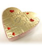 Top view of Valentine's Day Milk Chocolate Hearts by Ü Chocolate for the World