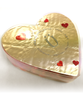 Top view of Valentine's Day Dark Chocolate Hearts by Ü Chocolate for the World