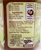 Detail of ingredients label from Agave Nectar with Vanilla