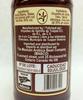Back label detail of 240 ml Organic Vanilla Extract