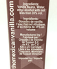 Ingredients detail from 50 ml Organic Vanilla Extract