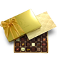 Inside the 24-piece Jet-Setter Truffle box by Ü Chocolate for the World