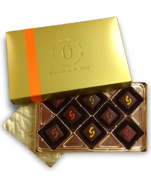 Marz Explorer 8-piece gift collection by Ü Chocolate for the World