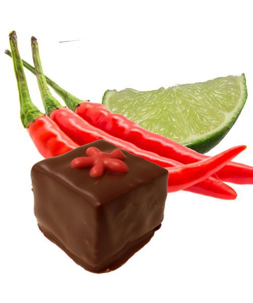 The Mekong Heat truffle features southeast-Asian chili and lime | Ü Chocolate for the World