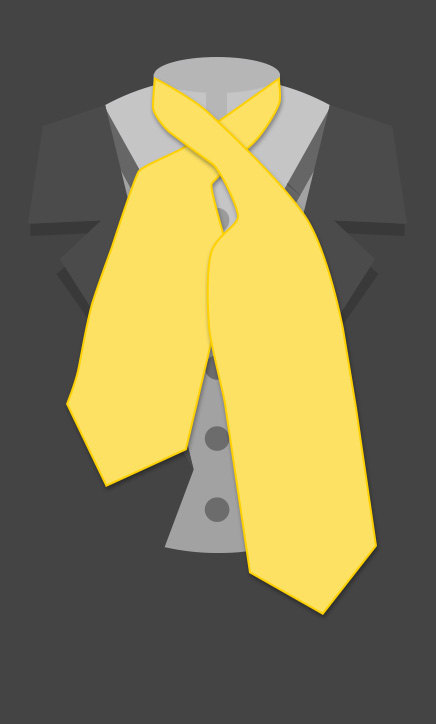 How To Tie A Victorian Ascot | Step 2