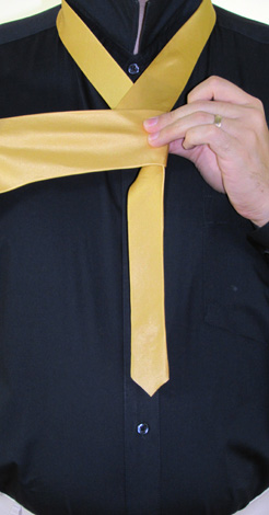 How to Tie a Four In Hand Necktie Knot | Step 4