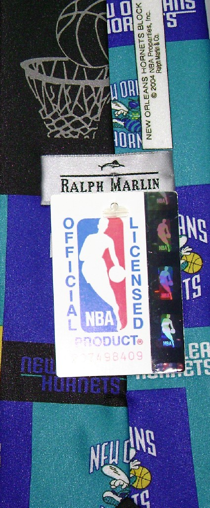 NEW ORLEANS HORNETS NeckTie NBA BasketBall Men's Neck Tie