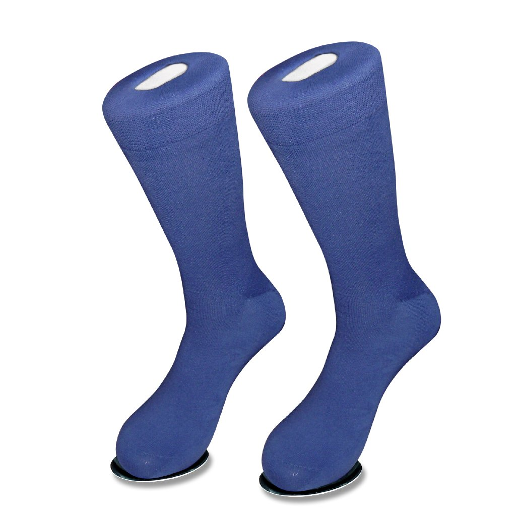 1 Pair of Biagio Solid ROYAL BLUE Color Men's COTTON Dress SOCKS