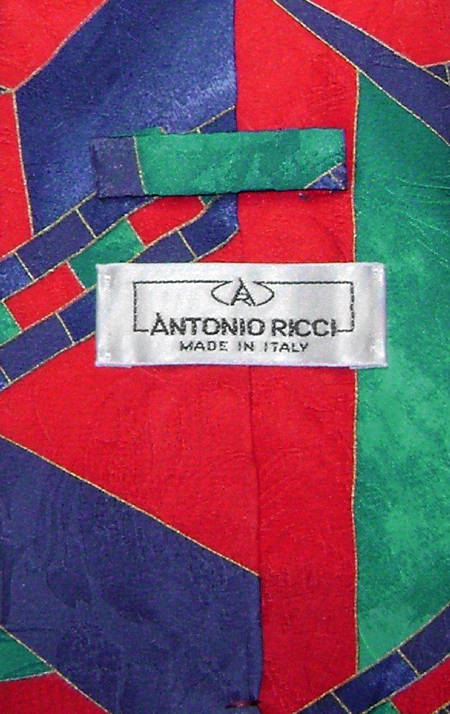 Antonio Ricci SILK NeckTie Made in ITALY Geometric Design Men's Neck Tie #5115-2