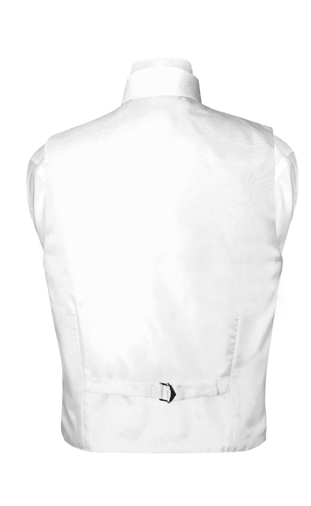 BOY'S Dress Vest & NeckTie Solid WHITE Color Neck Tie Set