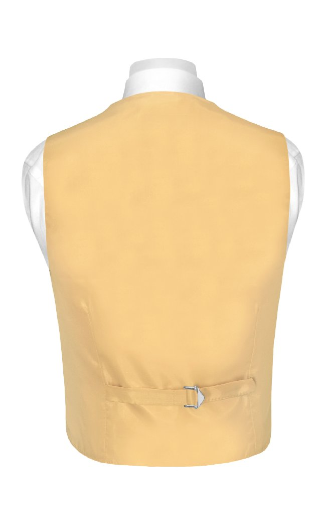 BOY'S Dress Vest & NeckTie Solid GOLD Color Neck Tie Set