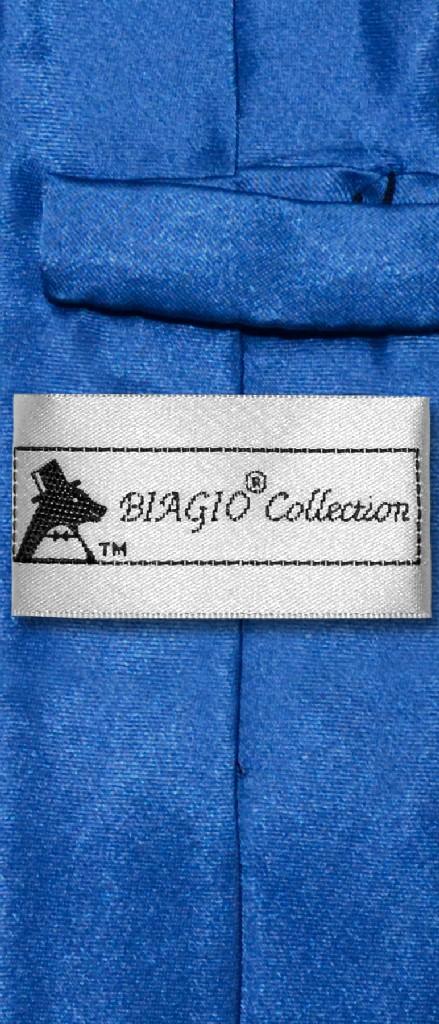 Biagio BOY'S NeckTie Solid ROYAL BLUE Color Youth Neck Tie